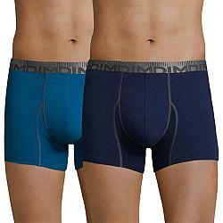 2 pack pánskych boxeriek DIM Cotton 3D Flex Blue