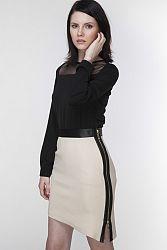 Béžová sukňa ASP0011