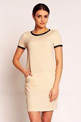 Béžové šaty H35