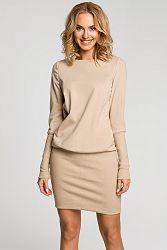 Béžové šaty MOE 143