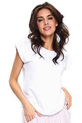 Biele bavlnené pyžamové tričko SHI9754