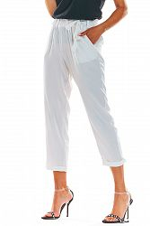 Biele nohavice A303