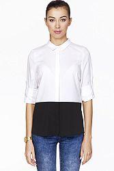 Bielo-čierna košeľa ABK0076