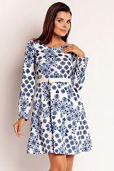 Bielo-modré šaty NA91