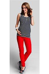 Červené tehotenské nohavice Jolly