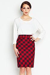 Červeno-čierna sukňa A107