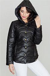Čierna bunda K313