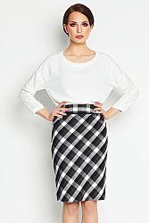 Čierno-biela sukňa A107