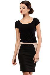 Čiernobéžová sukňa MOE 009