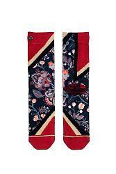 Dámske čierno-červené ponožky Senna