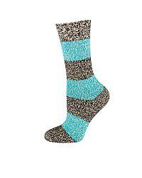 Dámske modré pletené ponožky Melange