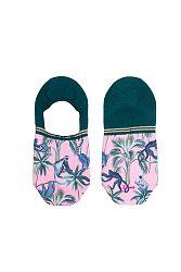 Dámske ružovo-zelené členkové ponožky Koko