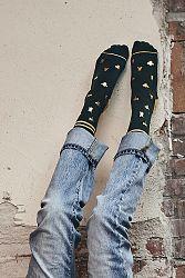 Dámske zlato-zelené ponožky Insects