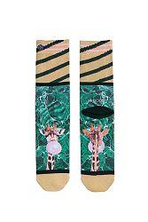 Dámske zlato-zelené ponožky Teddy Marble