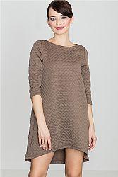 Hnedé šaty K134