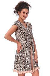 Leopardia tehotenská nočná košeľa TCB9612