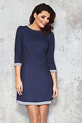 Modré riflové šaty M039