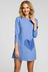 Modré šaty MOE 053