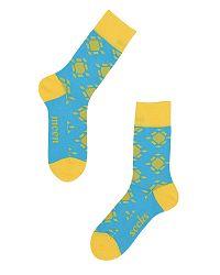 Modro-žlté ponožky Kalet III