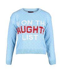 Modrý sveter Naughty List