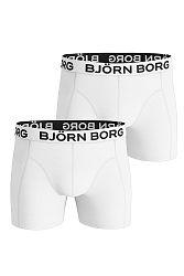 Pánske biele boxerky Noos Solids Shorts - dvojbalenie