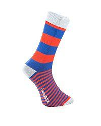 Pánske červeno-modré ponožky Zebra