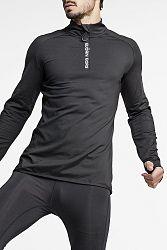 Pánske čierne tričko Alve Half Zip Polo