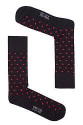 Pánske čierno-červené bodkované ponožky Spox Sox Dots