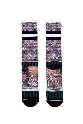 Pánske hnedo-zelené ponožky Fixie
