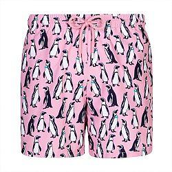 Pánske kúpacie šortky GRANADILLA Pinguins Pink