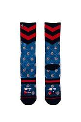 Pánske modro-červené ponožky Barney