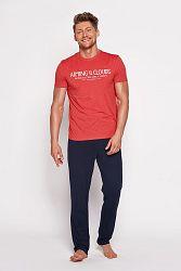 Pánske modro-červené pyžamo Brant