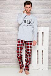 Pánske sivo-červené pyžamo Leon