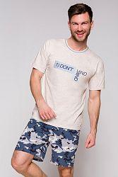 Pánske sivo-modré pyžamo Szymon