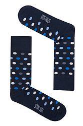 Pánske tmavomodré bodkované ponožky Spox Sox Dots