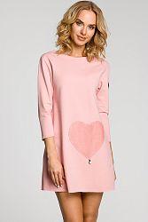 Ružové šaty MOE 053