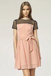 Ružové šaty S44