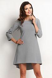 Sivé šaty A115