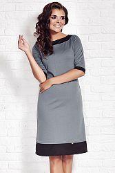 Sivé šaty A77