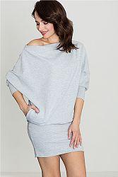 Sivé šaty K254