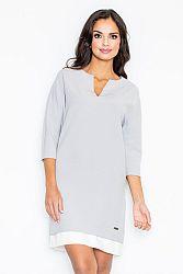 Sivé šaty M333