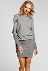 Sivé šaty MOE 143