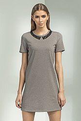 Sivé šaty S53