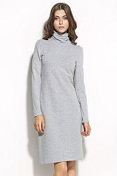 Sivé šaty S56