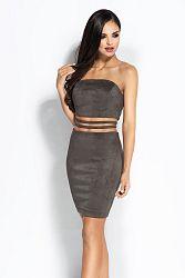Sivé šaty Sue
