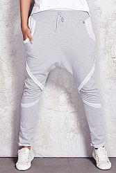 Sivé teplákové nohavice M025