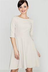 Sivo-béžové šaty K219