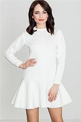 Smotanové šaty K247
