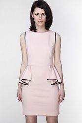 Svetloružové šaty ASU0007
