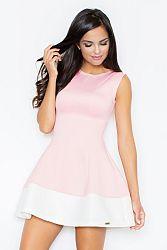 Svetloružové šaty M373